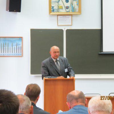 Конференцию открывает советник РАРАН декан факультета вооружения, доктор технических наук - О.Г.Огошков
