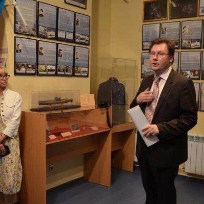 Выступление автора выставки - Козлова Кирилла Сергеевича