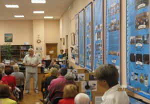 По содержанию выставки выступает старший научный сотрудник музея имени А.И. Маринеско В.В. Бобрус