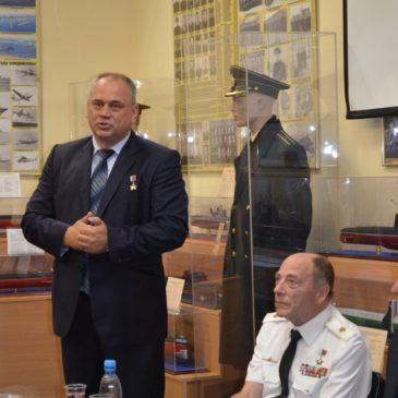 Встреча с капитаном 1-го ранга Звягинцевым А. Н.