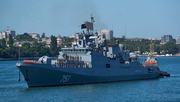 Российский фрегат «Адмирал Эссен» поймал  американскую подлодку