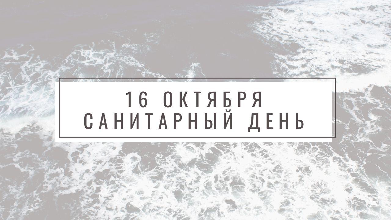 16 ОКТЯБРЯ – САНИТАРНЫЙ ДЕНЬ