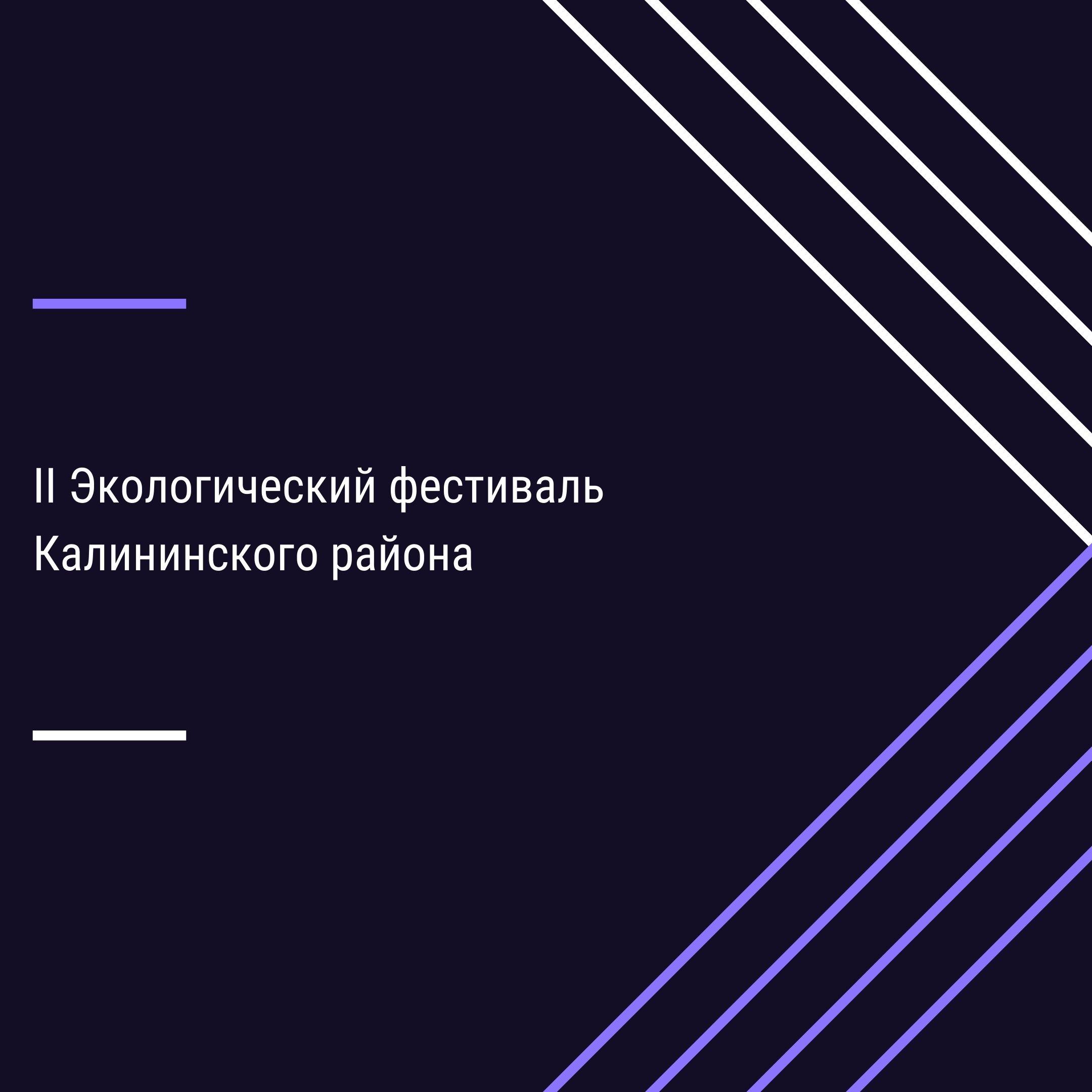 """II Экологический фестиваль Калининского района """"Экологической культуре – Да!"""""""